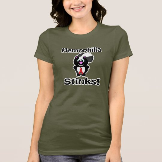 Haemophilia Stinks Skunk Awareness Design T-Shirt