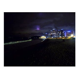 Haeundae Beach at Night Postcard