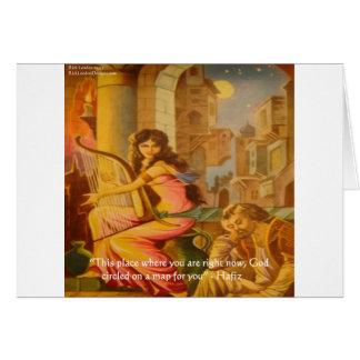 "Hafiz ""God's Circle"" Wisdom Quote Card"