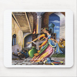 Hafiz Sun Earth Love Quote Mouse Pads