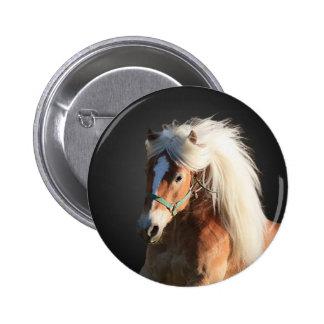 Haflinger Horse 6 Cm Round Badge