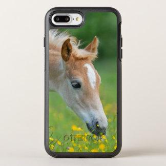 Haflinger Horse Cute Foal Flowers Photo Protection OtterBox Symmetry iPhone 8 Plus/7 Plus Case