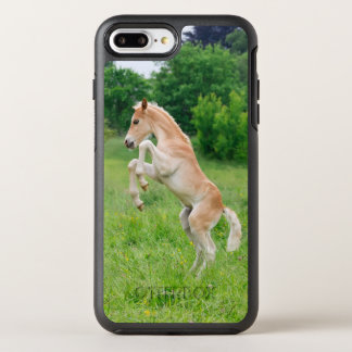 Haflinger Horse Cute Foal Frolic Photo  Protection OtterBox Symmetry iPhone 7 Plus Case