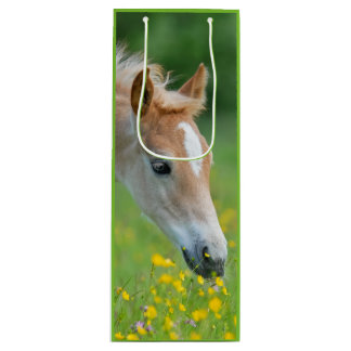 Haflinger horse cute foal wine gift bag
