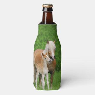 Haflinger Horses Cute Foal Kiss Mum  Bottle-Jacket