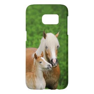 Haflinger Horses Cute Foal Kiss Mum  - Phonecase