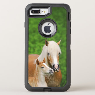 Haflinger Horses Cute Foal Kiss Mum - Phoneprotect OtterBox Defender iPhone 8 Plus/7 Plus Case