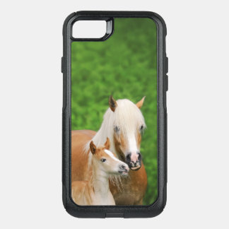 Haflinger Horses Cute Foal Kiss Mum Photo - on OtterBox Commuter iPhone 8/7 Case