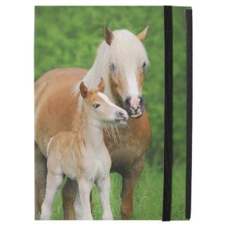 """Haflinger Horses Cute Foal Kiss Mum Photo  protect iPad Pro 12.9"""" Case"""