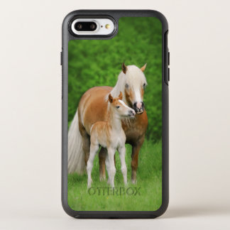 Haflinger Horses Cute Foal Kiss Mum Photo -protect OtterBox Symmetry iPhone 8 Plus/7 Plus Case