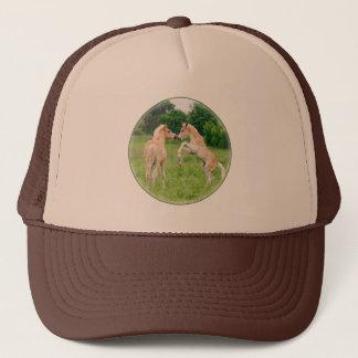 Haflinger horses cute foals rearing trucker hat