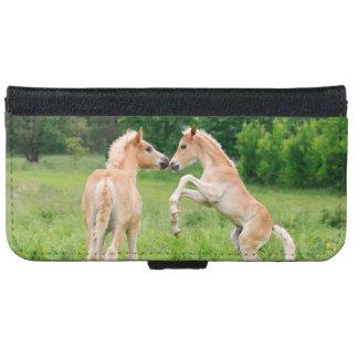 Haflinger Horses Foals Rearing Galaxy Wallet Case iPhone 6 Wallet Case