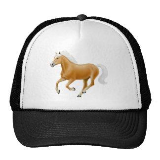 Haflinger on white ow cap