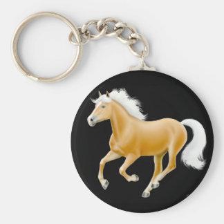 Haflinger Palomino Horse Keychain Black