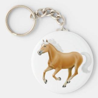 Haflinger Palomino Horse Keychain White