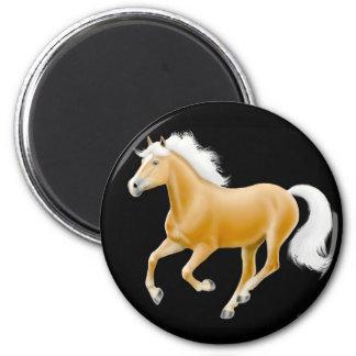 Haflinger Palomino Horse Magnet Black