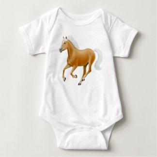 Haflinger Palomino Pony Infant One Piece Baby Bodysuit