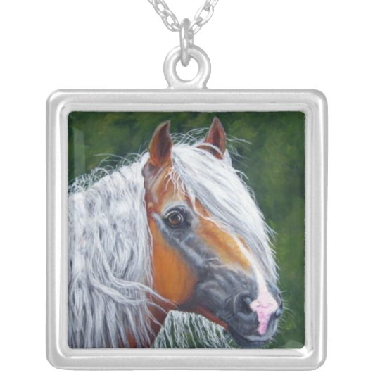 haflinger silver plated necklace