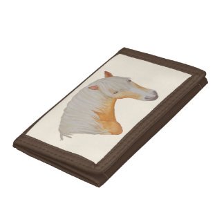Haflinger Watercolor Wallet. Trifold Wallet
