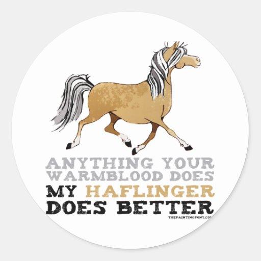 Haflingers Do It Better Sticker