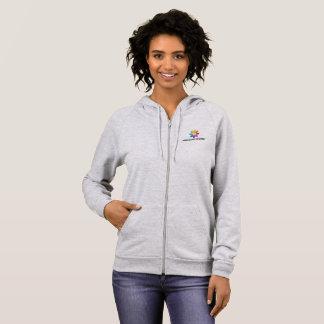 HAfS Women's Basic Hooded Zip Sweatshirt (Grey)