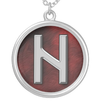 Hagalaz Silver Plated Necklace