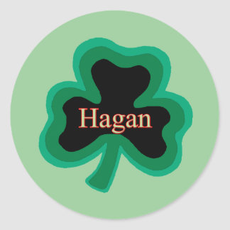 Hagan Family Round Sticker
