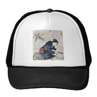 Hagatame New Years ritual by Totoya Hokkei Trucker Hat