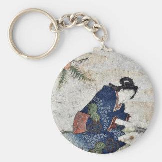 Hagatame New Years ritual by Totoya Hokkei Keychain