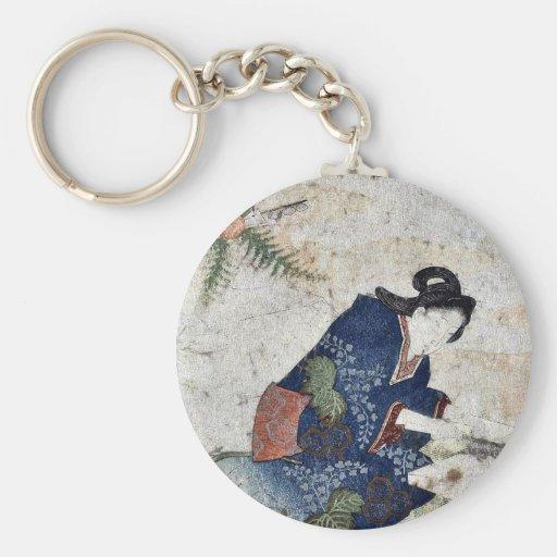 Hagatame New Years ritual by Totoya, Hokkei Keychain