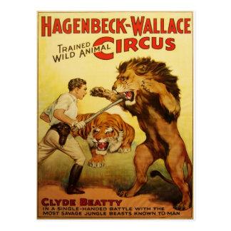 Hagenbeck Circus vintage postcard