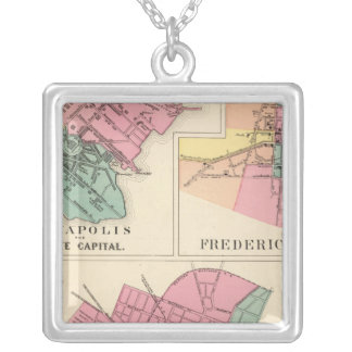 Hagerstown, Annapolis, Frederick City Silver Plated Necklace