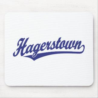 Hagerstown script logo in blue mousepad