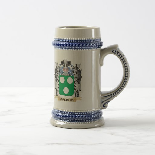 Haggblad Coat of Arms - Family Crest 18 Oz Beer Stein