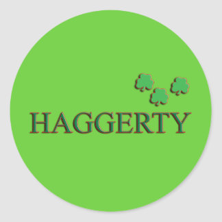 Haggerty Family Classic Round Sticker