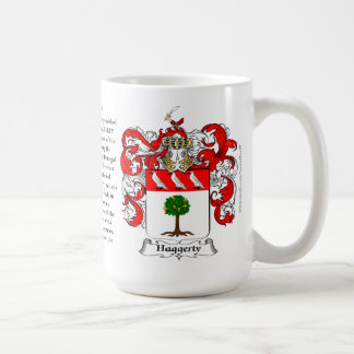 Haggerty, the Origin, the Meaning and the Crest Basic White Mug