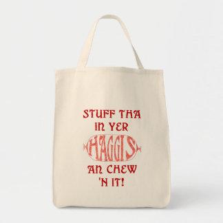 Haggis Funny Scottish Tote bag