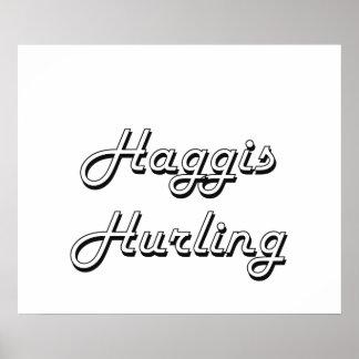 Haggis Hurling Classic Retro Design Poster