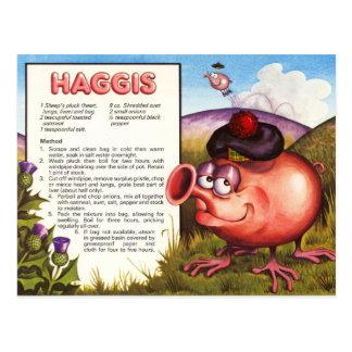 Haggis Recipe Postcards