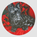 Haggis the Scottish Terrier Classic Round Sticker