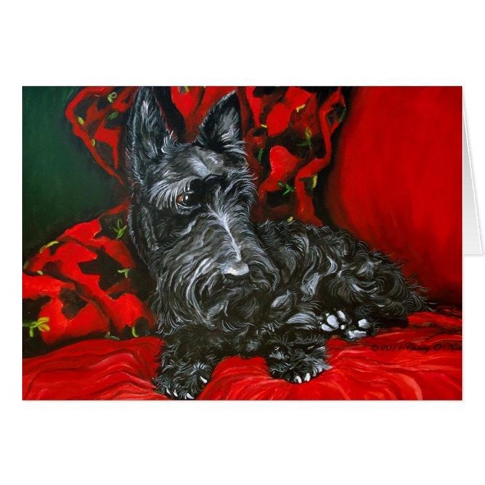 Haggis the Scottish Terrier Greeting Card