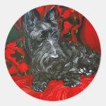 Haggis the Scottish Terrier Round Stickers