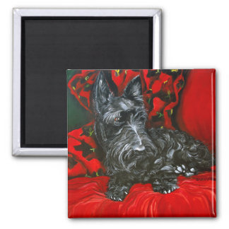 Haggis the Scottish Terrier Square Magnet