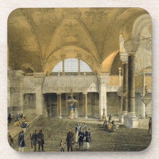 Haghia Sophia, plate 9: the new Imperial Gallery, Coaster