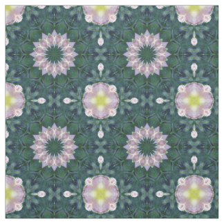 Hagi Mandala Floral Pattern green pink yellow Fabric