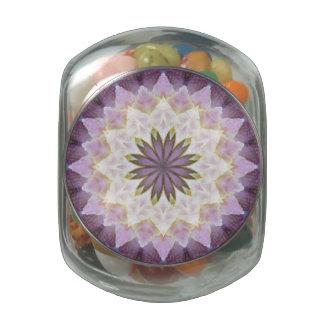 Hagi Mandala glass candy jar