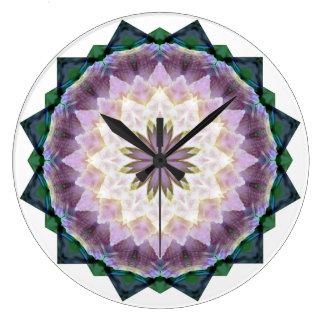 Hagi Mandala pink/green Clock large round