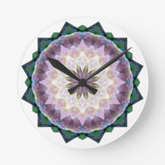 Hagi Mandala pink/green Clock med round