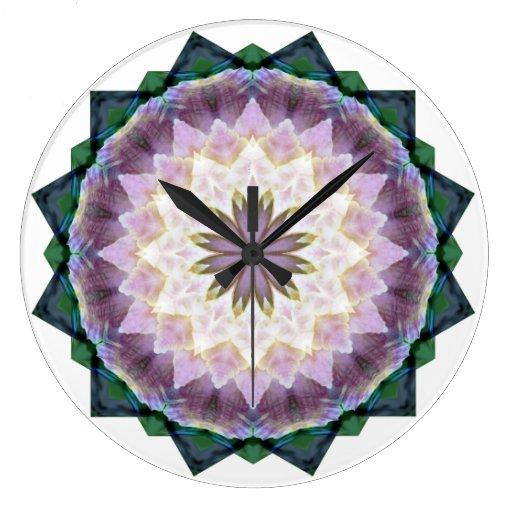 Hagi Mandala Round Clock
