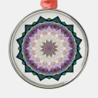 Hagi Mandala Round Ornament Silver-Colored Round Ornament